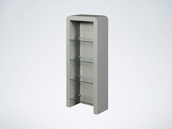 Atlanta grigio e DVD con ripiani in vetro–DVD Storage rack–salotto