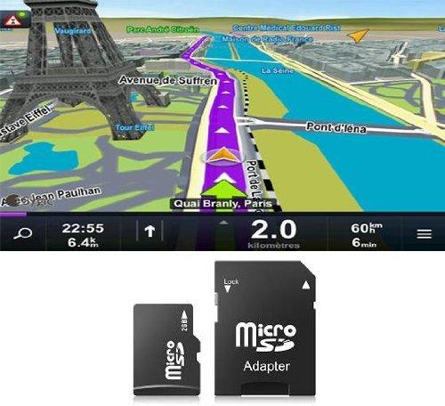 Carte MicroSD/SD 4Go GPS Sygic pour autoradios - Europe de l'Ouest
