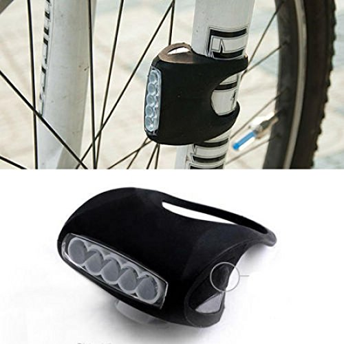 1Pc Grandiose 3 Mode 7x LED Popular Silicone Bike Light Front Side Safety Cycling Frog Lamp Color Black (Fuel X 30 Atomic compare prices)