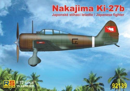 RS Models 92139 Nakajima Ki-27b Thailand (3 decal versions Thailand and China) 1:72 Plastic Kit Maquette