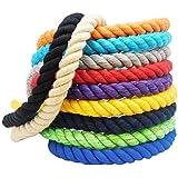 FMS Super Soft Triple-Strand Twisted Cotton Rope (Black)(1/2 Inch X 10 Feet)