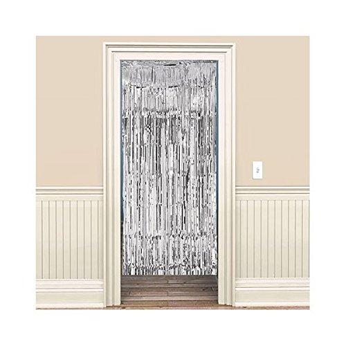 Amscan Dazzling Foil Metallic Curtain, 8' x 3', Silver
