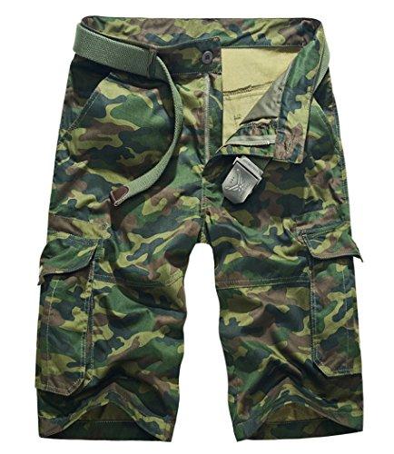 Lega Mens -  Pantaloncini  - Cappotto - Uomo Army Green Camouflage XX-Small