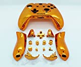 3CLeader® Shell Case Housing Cover + Buttons Set for Xbox One Controller Color Orange Chrome Plating