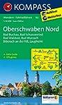 Oberschwaben Nord: Wanderkarte mit Ak...