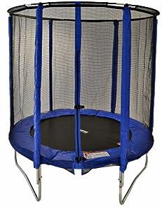 Cortez 4.5ft Junior Trampoline with Fibre Rod Enclosure (Pink or Blue) (Blue)