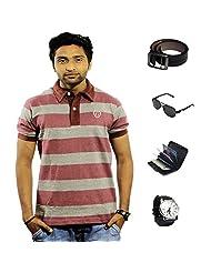 Garushi Multicolor T-Shirt With Watch Belt Sunglasses Cardholder - B00YML930Q