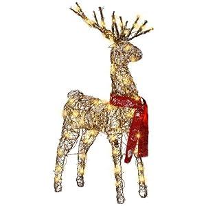 gemmy starry night grapevine deer outdoor christmas. Black Bedroom Furniture Sets. Home Design Ideas