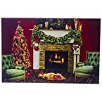 Christmas Tree and Fireplace LED Canvas