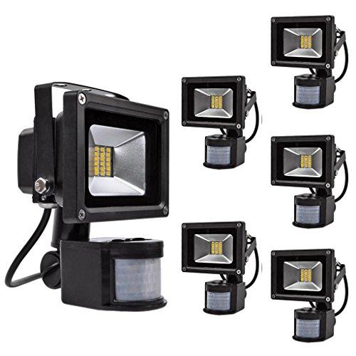 6-Pack 20W Warm White Waterproof Smd Pir Motion Sensor Security Lamp Light Led Flood Light Outdoor Lamp (20W)