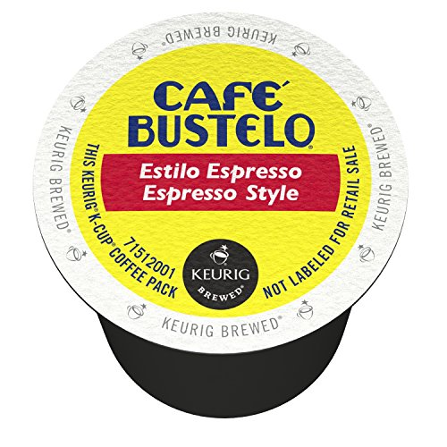 Cafe Bustelo K-Cup Packs, Espresso Style, 12 Count (Pack of 6)