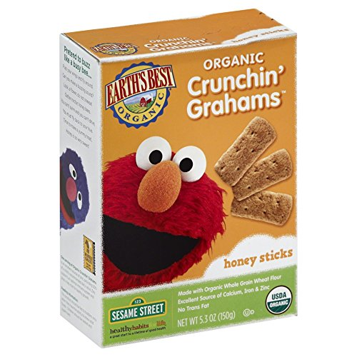 Earth's Best Organic Crunchin' Grahams, Honey, 5.3 Ounce (Pack of 6)