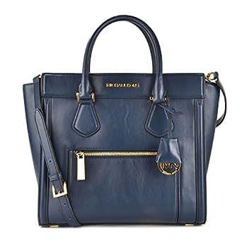 michael michael kors colette handtasche one size blau. Black Bedroom Furniture Sets. Home Design Ideas