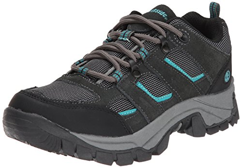 Northside Women's Monroe Low Hiking Shoe, Dark Gray/Dark Turquoise, 8.5 M US