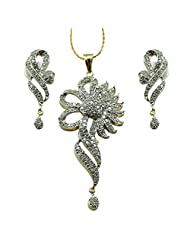 Sheetal Jewellery Silver & Golden Brass & Alloy Pendant Set For Women - B00TIGZTJE