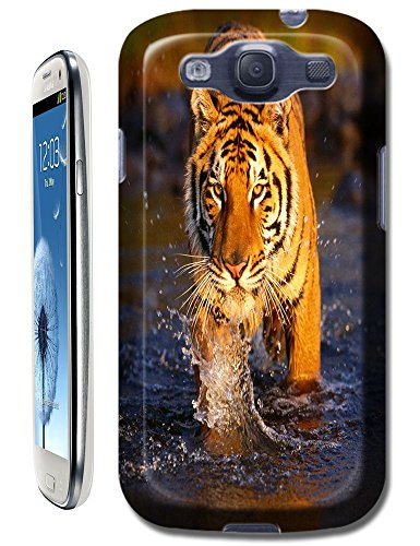 Tiger Case Cover Hard Back Cases Beautiful Nice Cute Animal Hot Selling Cell Phone Cases For Samsung Galaxy S3 # 18 front-155578