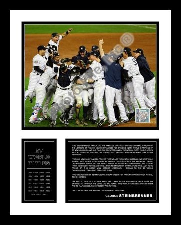 All About Autographs AAA-51270 New York Yankees Framed Photograph 2009 World Series Celebration 1 Horizontal Milestone