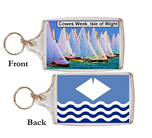 Schlüsselring Isle of Wight Cowes Geschenk Tourist Souvenir
