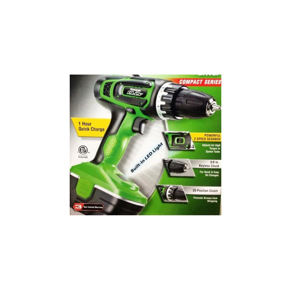 19.2V Kawasaki Cordless Drill / Driver Compact Series LED Light