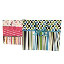 Pink & Blue Gift Bags (Set of 2)