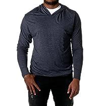 Next Level 6021 Unisex Tri-Blend Long-Sleeve Hoody Sweatshirt Vintage Navy XL