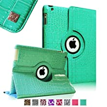 Fintie (Crocodile Turquoise) 360 Degrees Rotating Stand Leather Case Cover For IPad 4th Generation Retina Display...