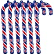 Detroit Pistons Candy Cane Ornament Set - NBA Basketball