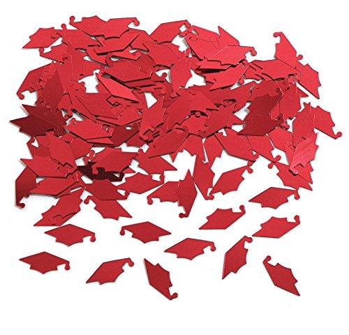 Creative Converting Graduation Caps Confetti, Red