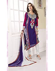 Fashionable Suits Embroidery Suit Party Wear Georgette Suit Fashionable Suits Large Size - B00WKA69SK
