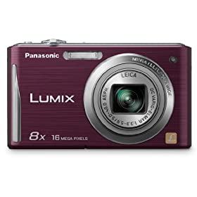 Panasonic DMC-FH25V 16.1MP Digital Camera with 8x Wide Angle Image Stabilized Zoom and 2.7 inch LCD (Violet)