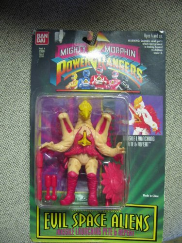 Buy Low Price Bandai Mighty Morphin Power Rangers Evil Space Aliens Missile Launching Pete & Repeat Action Figure (B003M64EEW)