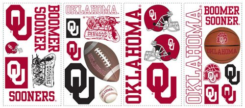 RoomMates RMK1061SCS University of Oklahoma Peel & Stick Wall Decals