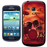 Fancy A Snuggle Rocking Rock Band Drum Set with Cymbals Clip on Hard Back Cover for Samsung Galaxy S3 Mini i8190