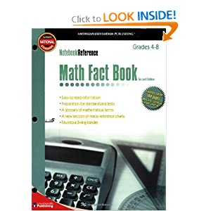 Math Fact Book: Grades 4-8 (Notebook Reference) 2nd Edition American Education Publishing