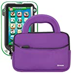 Evecase Purple Ultraportable Handle Carrying Portfolio Case Bag for LeapFrog LeapPad Ultra Learning Tablet & LeapPad2