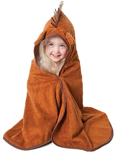 Cuddledry Cuddlepony Organic Bamboo Toddler Hooded Towel-Pony Print