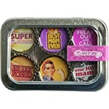 Mom Mother Bottle Cap 6 pc Magnet Set w/ Case