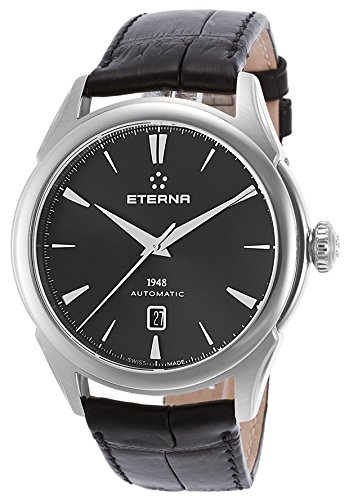 eterna 2950-41-41-1175 - Reloj para hombres, correa de cuero color negro
