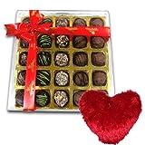 Temptation Chocolates Box With Heart Pillow - Chocholik Belgium Chocolates