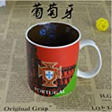 DD2 FIFA World Cup Mug Football Team Mug Sports Fan Gifts Ceramic Coffee Mugs Travel Drinkware Cups (Portugal)