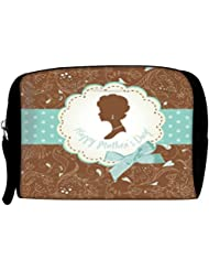 Snoogg Mothers Day Card Cute Vintage Frames With Ladies Silhouettes Travel Buddy Toiletry Bag / Bag Organizer...