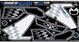 MOTOGRAFIX(モトグラフィックス) ボディーパッド BMW K1200S(04-08) FRONT ホワイト/ブラック MT-NB001U