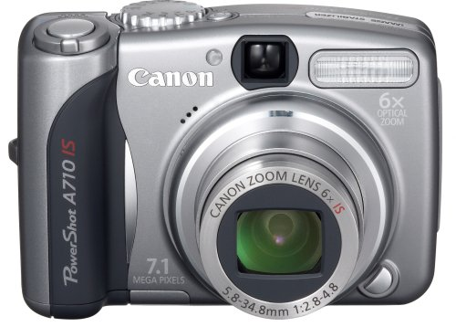 Canon PowerShot A710 IS is one of the Best Compact Point and Shoot Digital Cameras for Travel and Action Photos Under $750