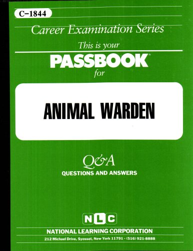 Animal Warden (Career Examination Series, C-1844)