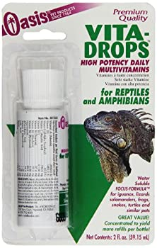 buy Oasis #80268 Vita-Drops For Reptiles And Amphibians, 2-Ounce Liquid Multivitamins