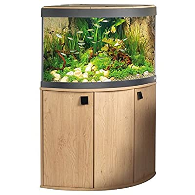 Fluval Venezia Aquarium Corner Fish Tank 190 Litres 92cm - Natural Oak - Bow Front