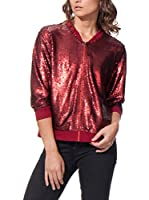 LABEL EIGHT Chaqueta Sequin Metallic Sequin (Burdeos)