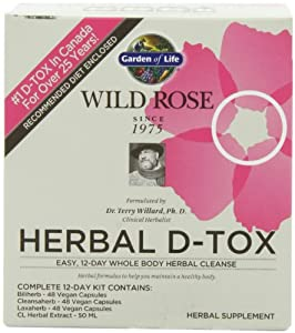 Garden of Life - Wild Rose Herbal D-Tox 1 kit