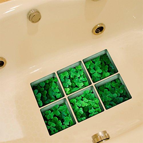 Adesivi Vasca da Bagno, Stillshine 3D Vero Vinile Slittata Impermeabile Bagno Adesivo per Sicurezza Doccia 130X130 Millimetri Set di 6pcs (SDDF3216)
