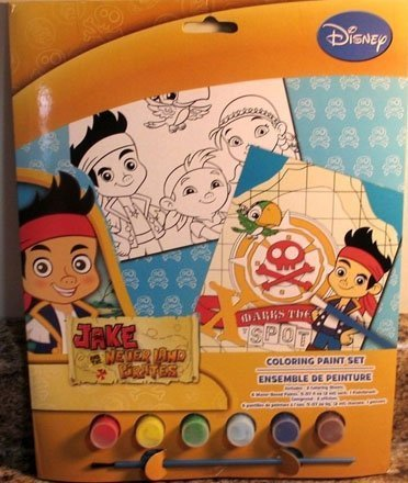 Disneys JAKE AND THE NEVERLAND PIRATES Coloring Paint Set!! - 1